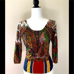 🇮🇹 gorgeous ETRO Milano lightweight silk sweater